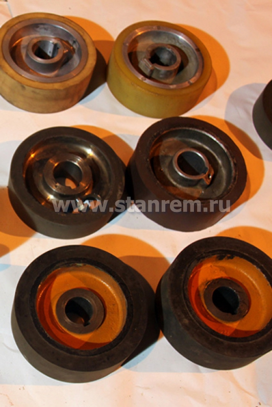 Металлические рябухи и обрезиненные ролики  (новые и б/у)